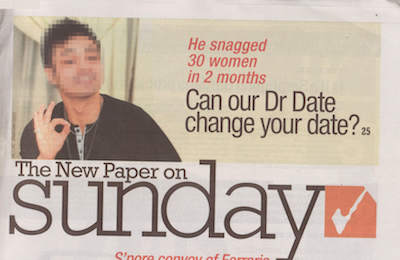 Dr. Date Newspaper Cover